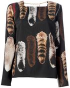 Carin Wester Fox Tail Blouse - Lyst