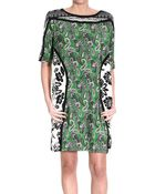 Etro Dress Shortsleeve Printed Silk Tunic - Lyst