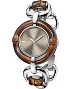Gucci Bamboo Collection Stainless Steel Watch - Lyst