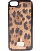 Dolce & Gabbana Leopard Print Iphone Case - Lyst
