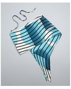 Hermès Turquoise Striped Silk Convertible Bandeau Scarf - Lyst