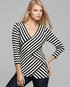 Vince Camuto Stripe Tiered Top - Lyst