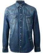 Dolce & Gabbana Washed Denim Shirt - Lyst