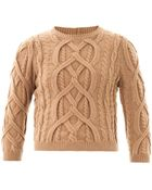 N°21 Engineered-Knit Wool Sweater - Lyst