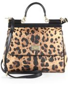 Dolce & Gabbana Sicily Leopardprint Shoulder Bag - Lyst