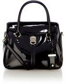 Karen Millen Patent Maxi Box Bag - Lyst