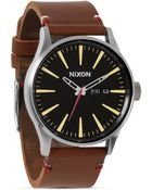 Nixon The Sentry Leather Watch, 42Mm - Lyst