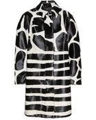 Burberry Prorsum Animalprint Calf Hair Coat - Lyst