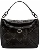Lulu Guinness Black Oversized Quilted Lips Molly - Lyst