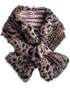 Black.co.uk Leopard Rabbit Fur and Alpaca Collar - Lyst