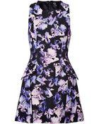 McQ by Alexander McQueen Irisblackmulti Printed Cotton Blend Dress - Lyst