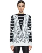 McQ by Alexander McQueen Tiger Jacquard Float Stitch Sweater - Lyst
