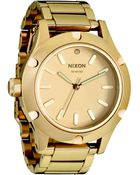 Nixon Camden Gold Tone Stainless Steel Watch - Lyst