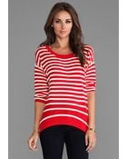 Juicy Couture Peyton Stripe Sweater in Red - Lyst