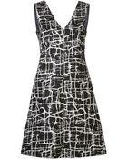 Marni Cracked Ice Print Dress - Lyst