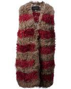 Thakoon Striped Fur Gilet - Lyst