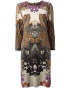 Etro Jersey Paisley Shift Dress - Lyst