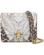 Roberto Cavalli Hera Leather Printed Bag - Lyst