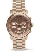 Michael Kors Runway Rose Gold Chronograph Watch Rose Gold - Lyst