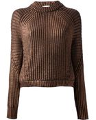3.1 Phillip Lim Chunky Knit Sweater - Lyst
