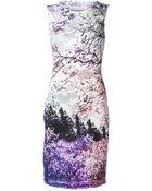 Mary Katrantzou Tree Graphic Dress - Lyst
