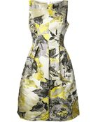 Lela Rose Floral Pattern Dress - Lyst