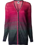 Missoni V-Neck Cardigan - Lyst