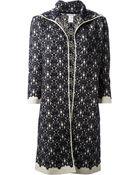 Oscar de la Renta Embroidered Coat - Lyst