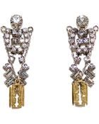 Tom Binns Crystal Razor Blade Earrings - Lyst