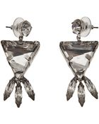 Tom Binns Crystal Triangle Earrings - Lyst