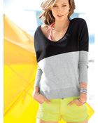 Victoria's Secret Double V-neck Sweater - Lyst