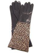 Diane von Furstenberg Calf Hair and Leather Gloves - Lyst
