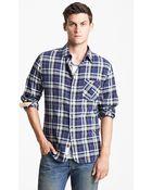 Rag & Bone Herringbone Plaid Shirt - Lyst