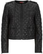 Alice + Olivia Siri Quilted Leather Jacket - Lyst