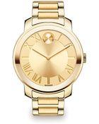 Movado Bold Goldtone Ip Stainless Steel Bracelet Watch - Lyst