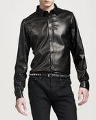 Saint Laurent Studded Leather Belt  - Lyst