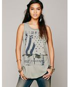 Free People We The Free Two Times The Fun Tee - Lyst