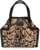 Alexander McQueen Demanta Pony Hair and Leather Tote - Lyst