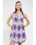 Urban Outfitters Something Else X Uo Digital Babydoll Dress - Lyst