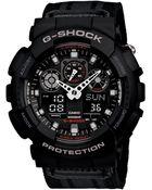 G-Shock  Analog Digital Black Cloth Strap Watch - Lyst