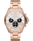 Michael Kors Womens Chronograph Wren Rose Goldtone Stainless Steel Bracelet 42mm - Lyst