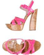 Casadei Platform Sandals - Lyst