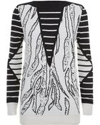 McQ by Alexander McQueen Tiger Jacquard Sweater - Lyst