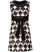 Anna Sui Geometric Deco Dress In Black Multi - Lyst
