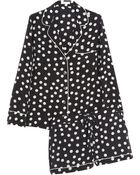 Equipment Lillian Polka-dot Washed-silk Pajama Set - Lyst