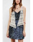 Urban Outfitters Ecote Tiered Crochet Vest - Lyst