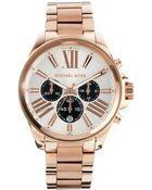 Michael Kors Wren Rose Gold Watch - Lyst