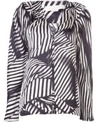 Stella McCartney Zebra Print Blouse - Lyst
