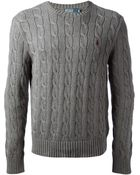 Polo Ralph Lauren Cable Knit Sweater - Lyst