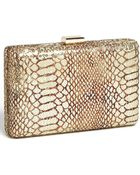Natasha Couture Sequin Snake Embossed Clutch - Lyst